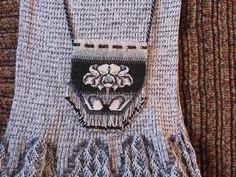 Сумочка к платью - осень жизни (Сумочка из книги Dead Rnitted Bags Julia S. Pretl, но кирпичиком)