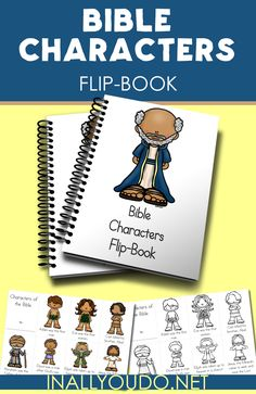 Bible Characters Mini Flip Book | Jesus christ | Preschool bible