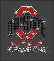 Ohio State Buckeyes Champions Rhinestone Transfer