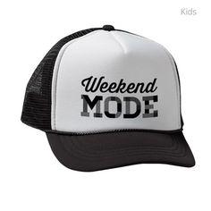 e1b637587bd weekend mode Kids Trucker hat on CafePress.com Trucker Hats