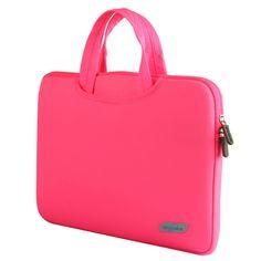 "Alienware Candy Colored Neoprene 12, 13, 15"" Laptop Sleeve Bag Case w/Handles & Zipper Closure 7 Colors 3 Sizes"