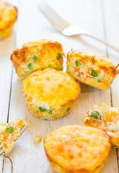 Um muffin de queijo, ovos e legumes com menos de 100 calorias? quero, claro! - casal mistério