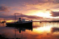 Pôr-do-sol em Ushuaia, Argentina conhecida como o Fim do Mundo. #Viagem #argentinatotal