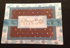 "Winter CTMH card ""snow days"""