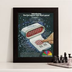New to RetroPapers on Etsy: Scrabble Lover Gift   70s Electronic Game Ad   Scrabble Sensor Word Game   Game Lover Decor   Clunky 80s Technology   Retro Toy Advertising (8.99 USD)