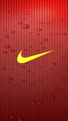 ↑↑TAP AND GET THE FREE APP! Art Creative Nike Just Do It Logo Yellow Red Stripes HD iPhone Wallpaper