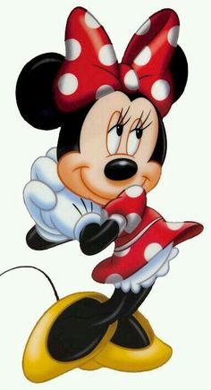 Minnie Mouse - Thinking of Mickey Wallpaper Mickey Minnie Mouse, Mickey Mouse E Amigos, Minnie Mouse Clipart, Disney Clipart, Mickey Mouse And Friends, Walt Disney, Disney Mickey, Disney Art, Images Disney