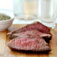 Bakon vodka infused steak.    My mom needs to try this for my step dad....