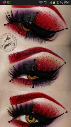 Harley Quinn inspired makeup that could be really cool for the Manic side of Drood.