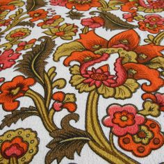 Lorelle vintage cotton barkcloth from Folly&Glee