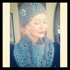 vintage marketplace hat and scarf