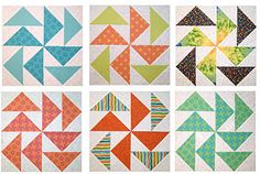 Michelle, a member of the Quilting Forum, made these Dutchman's Puzzle quilt blocks.