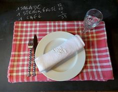 Authentic  French Bistro Tablecloth .Vintage Table linens tablecloths  .French…