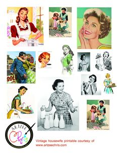 I always find the illustrations from the so funny as it portrayed a idealistic lifestyle that probably was never experienced by anyon. Retro Images, Vintage Pictures, Vintage Images, Vintage Ephemera, Vintage Paper, Vintage Ads, Vintage Advertisements, 1950s Housewife, Vintage Housewife