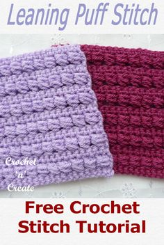Leaning Crochet Puff Stitch Free Crochet Tutorial Free crochet stitch tutorial for leaning puff stitch, learn how to crochet from … Crochet Cushion Cover, Crochet Cushions, Baby Blanket Crochet, All Free Crochet, Learn To Crochet, Double Crochet, Puff Stitch Crochet, Crochet Stitches, Knit Crochet