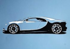 The Bugatti Chiron, made with acrylic markers.