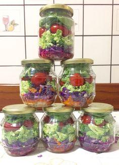 Salada de pote. Comida saudável. Healthy food.
