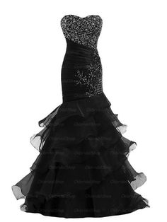 Evening dresses, party dress, black prom dresses,mermaid prom dresses,long… http://www.coniefoxdress.com