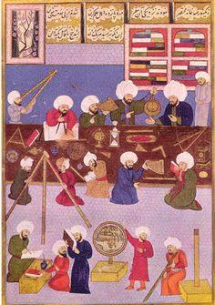 En la Alta Edad Media, el mundo islámico vivió una edad dorada en el desarrollo de las artes y las ciencia, con un predominio absoluto sobre el mundo cristiano.