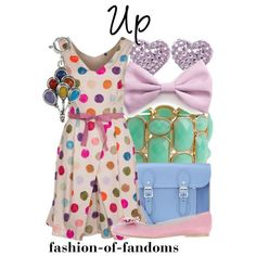 """I don't usually post Disneybound, but how cute is this balloon dress? """"Up"""" by fofandoms on Polyvore"""