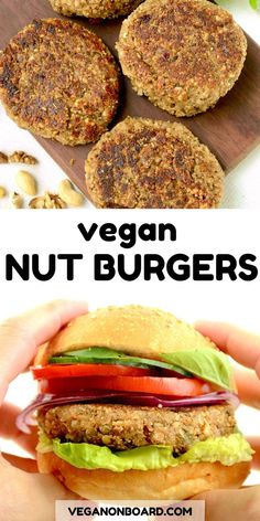 Looking for a delicious vegan burger? Try these super tasty nut burgers. They're simple to make and oh so yummy! They're a delicous protein rich alternative to a standard veggie burger.