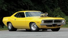yellow Muscle Car | Plymouth barracuda hot rod tuning yellow classic muscle car wallpaper ...