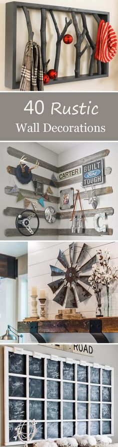 Rustic Wall Decorations For Adding Warmth To Your Home.