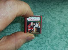 NIGHT BEFORE CHRISTMAS, Dollhouse Miniature Book, Twas the Night Before Christmas in its entirety!