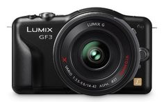 Panasonic Lumix DMC-GF3XK 12.1 MP Micro Four Thirds Compact System Camera with 3-Inch Touch-Screen LCD and LUMIX G X Vario PZ 14-42mm/F3.5-5.6 Lens by Panasonic. $430.99. From the Manufacturer                 Panasonic LUMIX DMC-GF3 Panasonic's LUMIX DMC-GF3 realizes all the features you want from a bulky DSLR interchangeable lens camera, only it accomplishes this in an ultra compact point-and-shoot camera body about as wide and tall as a typical smart phone yet is light...