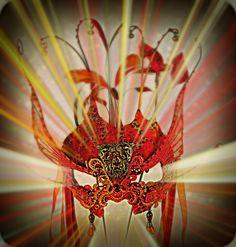 Fire Monkey Masquerade Mask by Judith Rauchfuss
