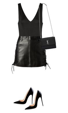 """Sem título #1428"" by oh-its-anna ❤ liked on Polyvore featuring Donna Karan and Yves Saint Laurent"