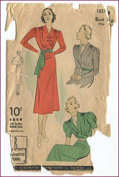 DuBarry 30's/40's Dress | NewVintageLady: August Showcase!!