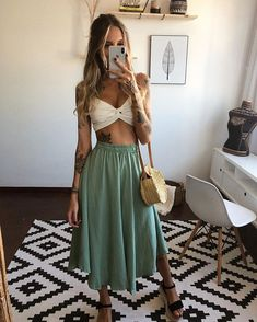 Hot Outfits, Cute Summer Outfits, Outfits For Teens, Spring Outfits, Teen Fashion, Love Fashion, Fashion Outfits, Womens Fashion, Fashion Styles