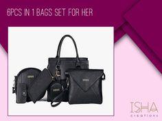 Isha Creations is ISO 9001 and 2700 Certified Happy Shopping! Fashion Handbags, Fashion Bags, Womens Fashion, Shop Usa, Happy Shopping, Shoulder Bag, Lady, Stuff To Buy, Shoulder Bags