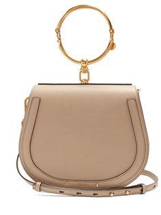 Chloe Nile medium leather and suede cross-body bag