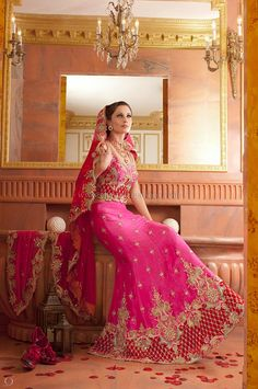 Vintage Wedding Dresses Indian Bridal Lenghas Lengha Choli Asian Wedding Outfit, London, UK