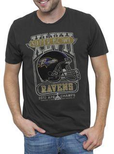 Go Ravens!  NFL AFC Champs Baltimore Ravens Vintage Inspired Solid Tee  $34.00  www.junkfoodclothing.com