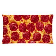 Food Pillow Case - Popular 20x36 inch One Side Pizza Rectangle Pillowcase Funny Pillow Case http://www.amazon.com/dp/B00JY8PIY2/ref=cm_sw_r_pi_dp_xqYTub17RK3NE