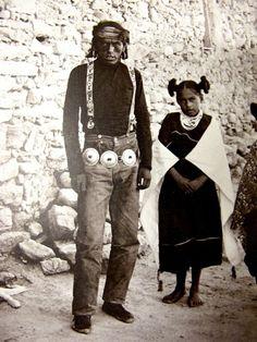 Hopi man and girl.