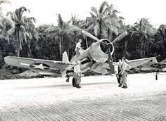F4U-1A Corsair of Marine Squadron VMF-216 at Torokina, Bougainville, Solomon Islands, 10 Dec 1943.