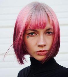 behindthechair.com (@behindthechair_com) • Instagram photos and videos Green Hair, Purple Hair, Pink Purple, Short Hair Cuts, Short Hair Styles, Coloured Hair, Pastel Hair, Pretty Pastel, Fashion Colours