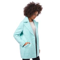 Mint Textured Coat from Oliver Bonas.