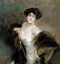 Giovanni Boldini, Ritratto della signora Diaz Albertini, 1909