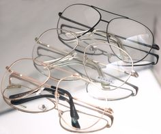 1708e26081 Vintage Classic Fashion Pilot Aviator Sunglasses Clear Lens Glasses  Spectacles