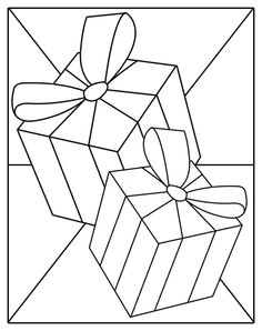 Beginner Stained Glass Patterns | This is a simple patterns ... gift