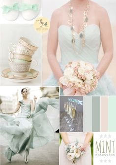 Mint Obsession Happily Factory Color wedding