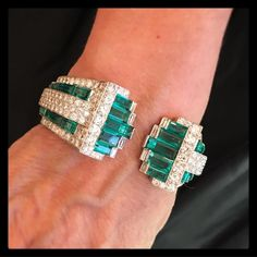Happy last day of #May with this birthstone appropriate emerald and diamond cuff bracelet sold at #ChristiesJewels last December (lot 164).…