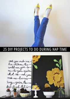 25 DIY Projects to Do During Nap Time!