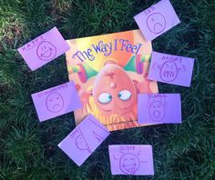 First we read the book, then I made charade cards for each feeling represented in the book (my client was little but, with older clients you can have them draw with you). Then we placed them in a bag, pulling them out and played the game as usual. I allowed my client (again, a little one) go through the book and find the picture to match what I was representing (and vice-versa).