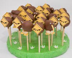 Kiwi bird cakepops by Taarta Morgana Bird Birthday Parties, Birthday Ideas, Kiwi Cake, New Zealand Food, Kiwi Bird, Bird Cakes, Kiwiana, Mellow Yellow, Cake Pops